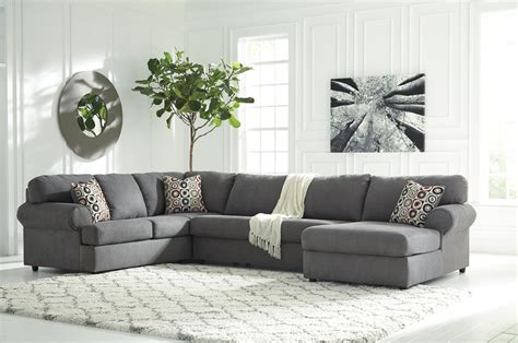 jayceon steel sectional    left side chaise