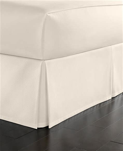 macys bed skirt martha stewart collection cotton pique queen bedskirt