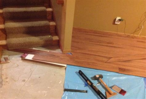 how to install laminate flooring in the basement wooden home