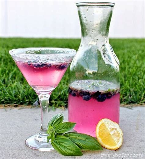 martini basil blueberry basil martini drinks martinis