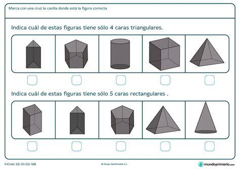Figuras Geometricas Rectangulares | ficha de figuras de caras triangulares y rectangulares