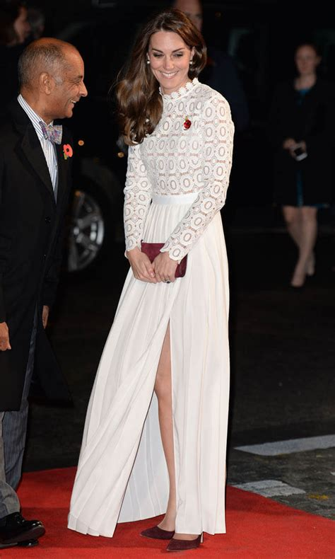 princess kate princess catherine in white at the screening of a