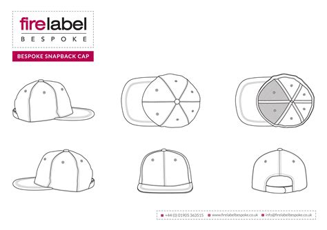 best photos of fitted hat template snapback hat design