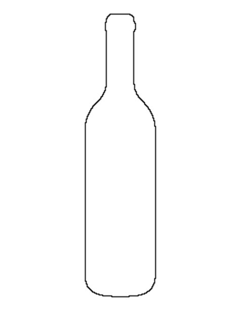 wine bottle pattern blackline masters templates
