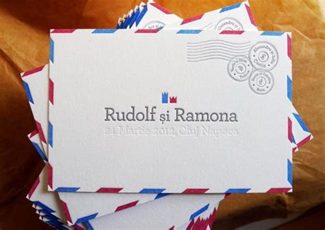 Wedding Announcement By Email by Ramona Rudolf S Air Mail Inspired Wedding Announcements