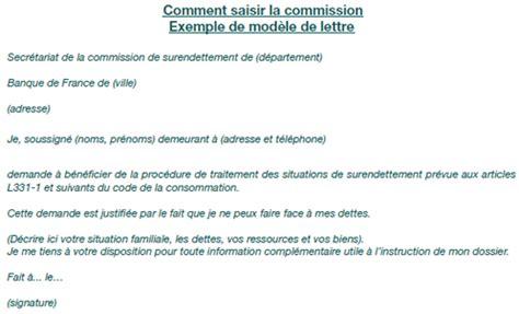 Exemple De Lettre Surendettement Faire Un Dossier De Surendettement