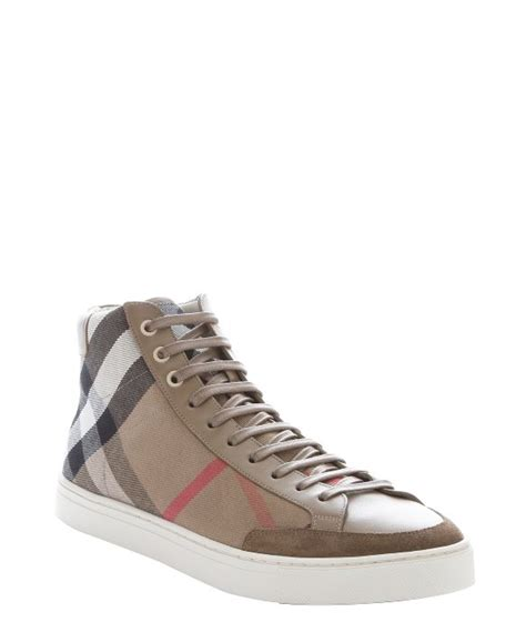 burberry sneakers for burberry olive house check canvas painton high top