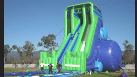 backyard blow up water slides giant inflatable water slides coming to abq youtube