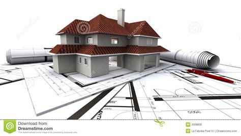 house plans architect houses on architect s plan stock photo image 2008830