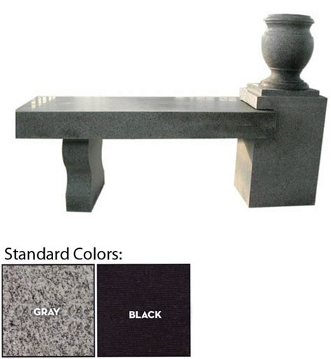 cremation bench product detail clear stream monuments