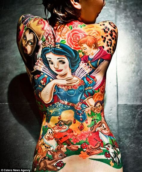 disney princess with tattoos 20 epic disney princess inspired tattoos flavorwire