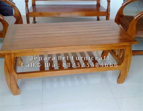 Meja Tamu Jati meja kursi tamu minimalis jati sedan harga murah