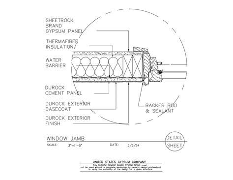 usg design studio jamb detail details