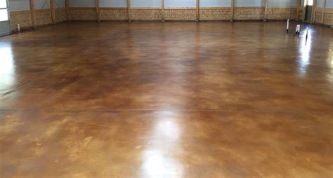 Interior Stained Concrete Floor Gallery Glossy Floors