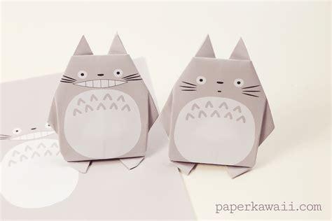 Kawaii Origami - origami totoro tutorial free printable paper paper kawaii