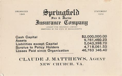 springfield marine company springfield marine insurance company the