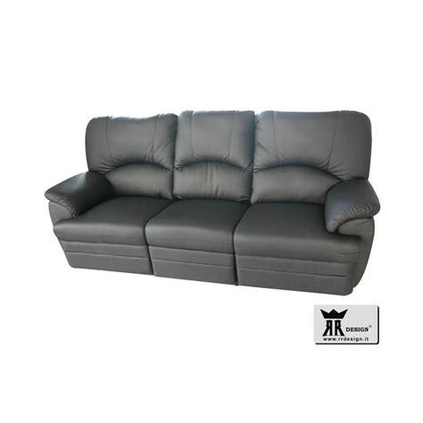 divano recliner divano relax manuale con 2 recliner ecopelle della linea