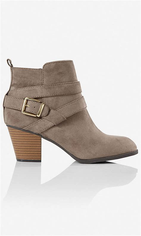 gray zip up buckle ankle boot express