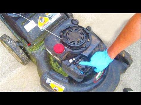 lawn mower repair auto choke briggs  stratton sears craftsman fix engine wont start spring