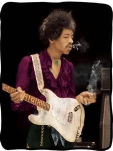 Micro House Music Jimi Hendrix Jimi Smoking Fleece Blanket
