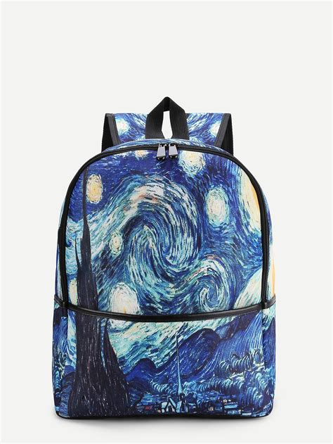 Print Canvas Backpack galaxy print canvas backpack