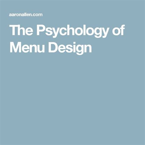 menu layout psychology best 25 menu engineering ideas on pinterest menu design