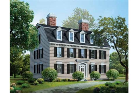 federal style house plans eplans adam federal house plan new classic