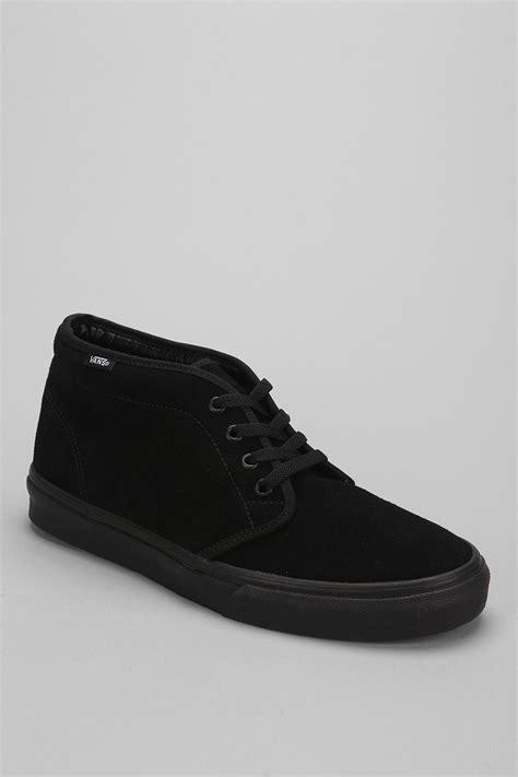 mens vans boots vans suede chukka boot in black for lyst