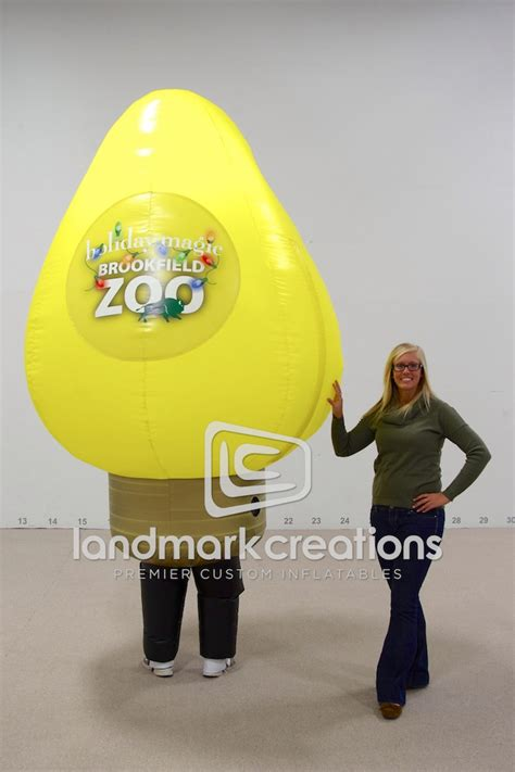 brookfield zoo inflatable christmas light bulb costume