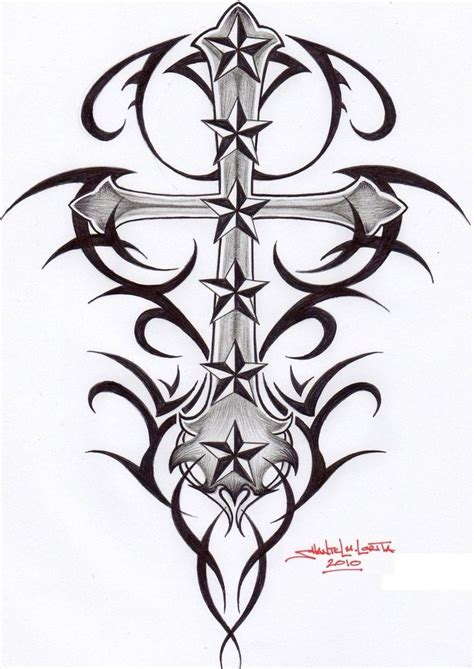 cross star tattoos tribal celtic cross tribal cross by smekeal00 on