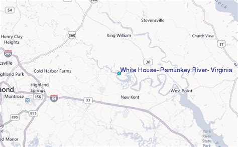 white house location white house pamunkey river virginia tide station