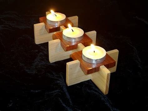 easy woodworking projects for gifts candle holder