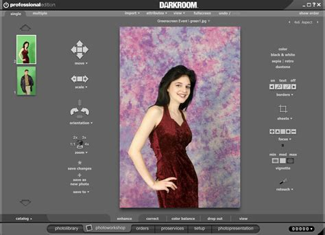 How To Create A Green Screen Border Darkroom Booth Green Screen Templates