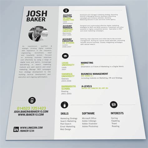 Creative Resume Ideas by Best Cv Template Search Pinteres