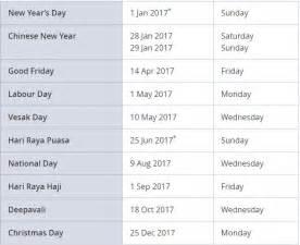 public holidays 2017 weekly calendar template