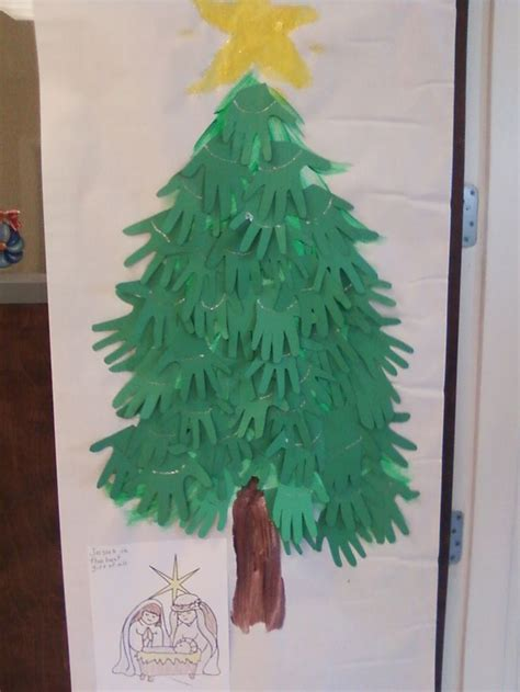 same christmas tree classroom door decoration different