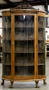 Vintage Curved Glass Curio Cabinet 301 Moved Permanently