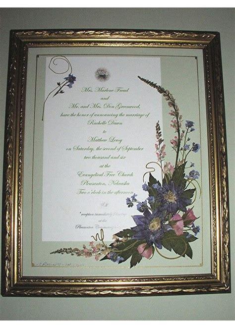 pressed flower framed wedding invitation 15 best images about wedding invitations framed keepsake