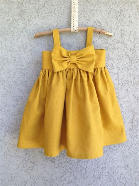 Richelle Dress Big Bow 9 bow dresses big bows and mustard yellow on
