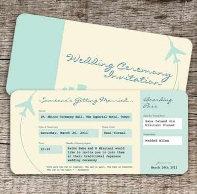 World Airlines Airline Tickets Plane Ticket Wedding Invitation Template Free