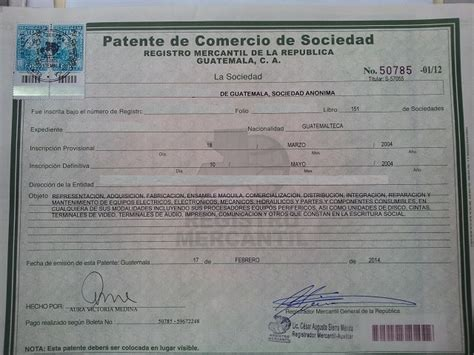 api patente de vehiculos patente de comercio de sociedad nueva