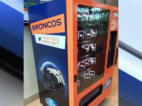 bud light vending machine broncos are nfl team to debut bud light