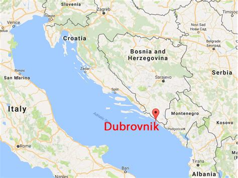 croatia map sister city dubrovnik croatia