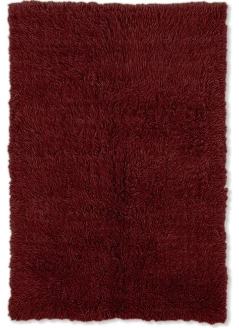 burgundy shag rug shag flokati 3 x5 rectangle burgundy area rug modern rugs by rugpal