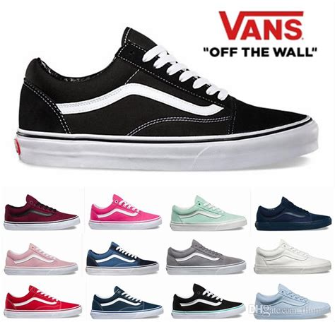 Vans Oldschool America Free Casual Hight Quality 2017 vans skool canvas shoes classic white black blue brand sneakers for mens low