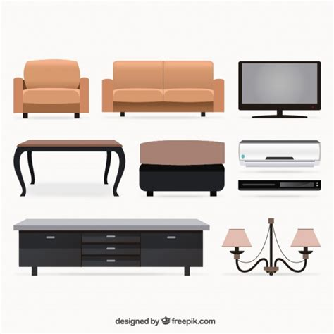 Free Living Room Furniture by Living Room Furniture Collection Vector Free