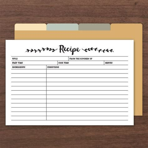 Free Editable Recipe Cards Templates by Printable Editable Recipe Cards Comes With Front And