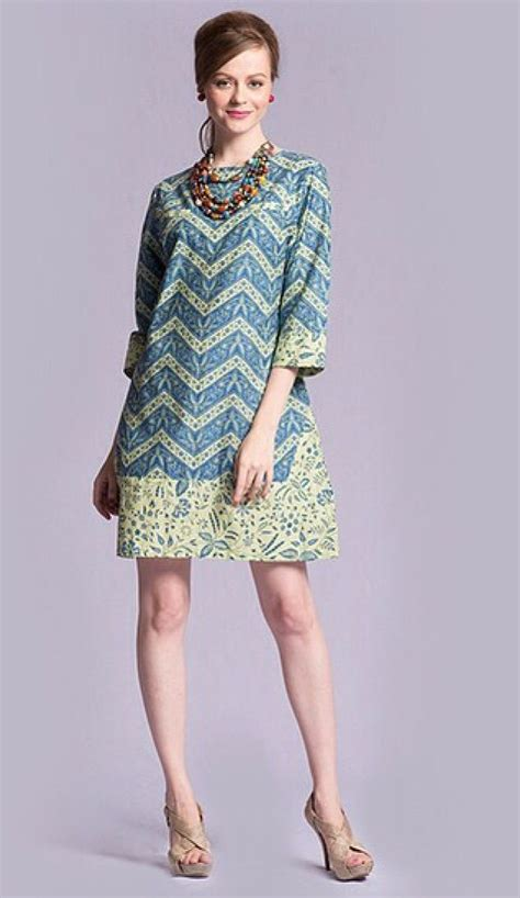 Dress Batik Blue Ce model dress batik berpita 25 best ideas about modern batik
