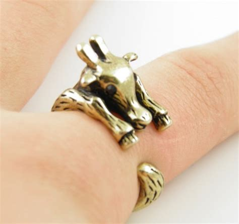 gold giraffe wrap ring size 5 wrapped jewelry on artfire