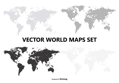 world map with country names vector vector world map set free vector stock